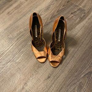 Manolo Blahnik Rose gold stiletto heels